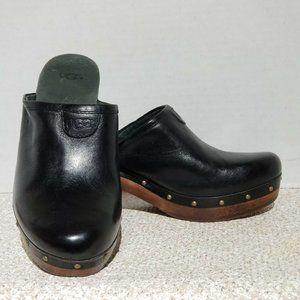 UGG Womens Mules Wood Heel Almond Toe Sz US 7